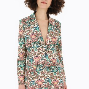 printed suit blazer