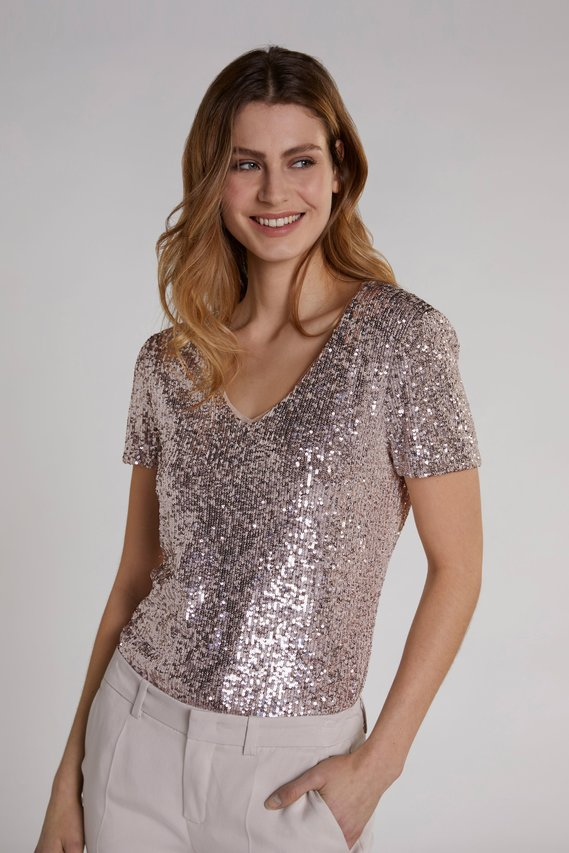 oui sequin top effigy