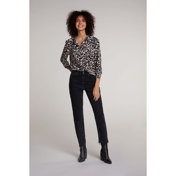oui leopard print blouse