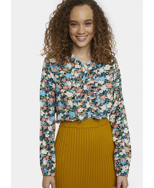 floral print dressy blouse Effigy