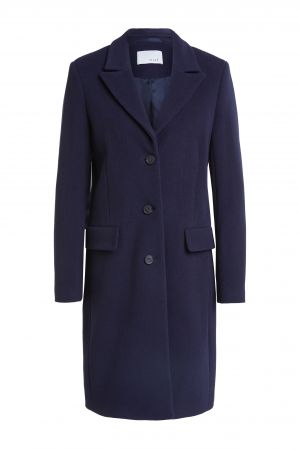 oui navy wool coat
