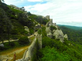 Castle of the Moors in Sintra- a day trip from Lisbon