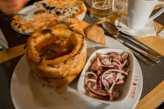 Traditional food in Sibiu