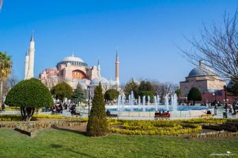 The beautiful Hagia Sophia in Istanbul Turkey