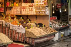 Spices from the Spice Bazaar in Istanbul Turkey