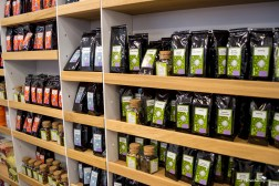 The excellent tea selection from the Carturest Carusel Bookstore in Bucharest