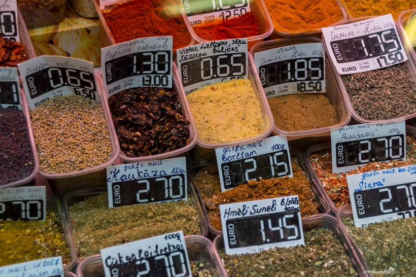 Spices at the Central Market in Riga