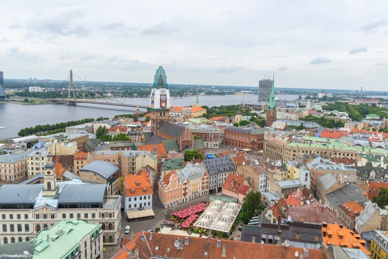 View from the top of the St Peter's Church, Riga