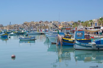 What to see in Malta: Fisherman boats in Marsaxlokk