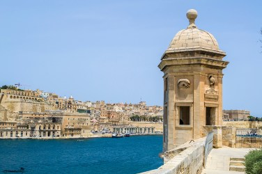 What to see in Malta: The view from the Safe Haven Gardens in Senglea