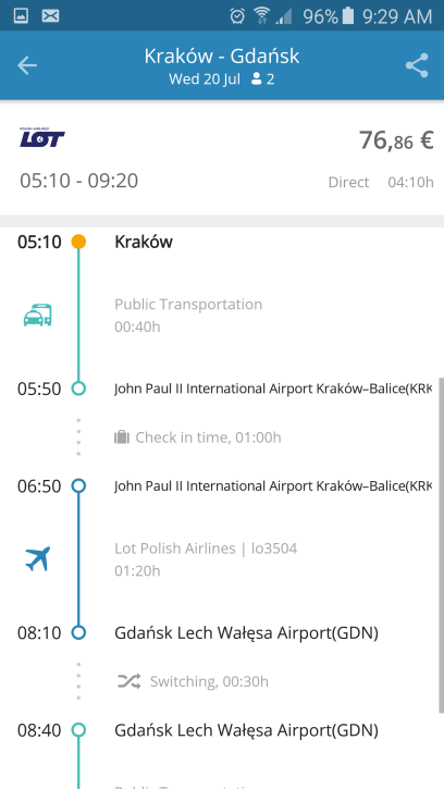 GoEuro Travel Planning App