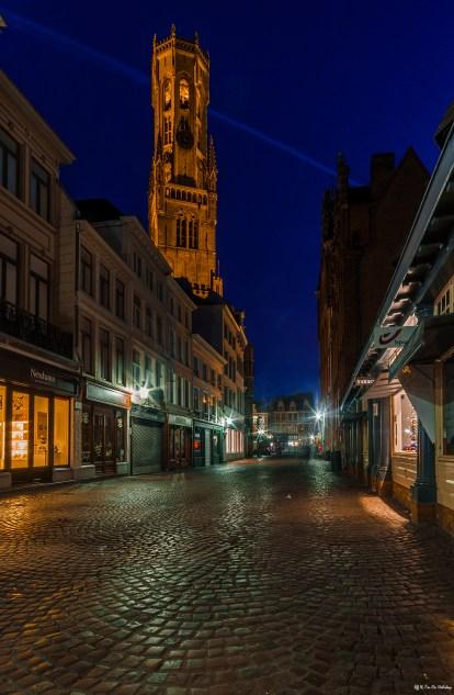 Nighttime in Bruges