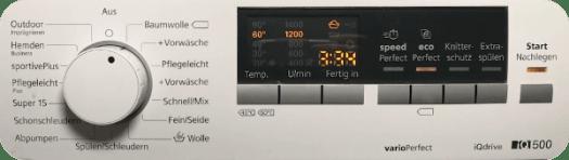 Washing machine ECO function button