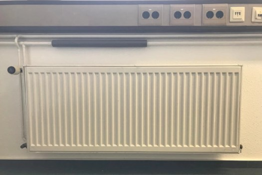 wall radiator without heat reflector