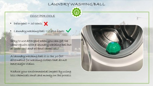 Laundry washing ball - Washing without detergent eco alternative
