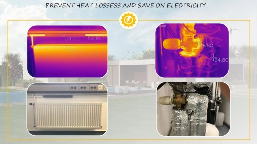 Prevent heat losses at home