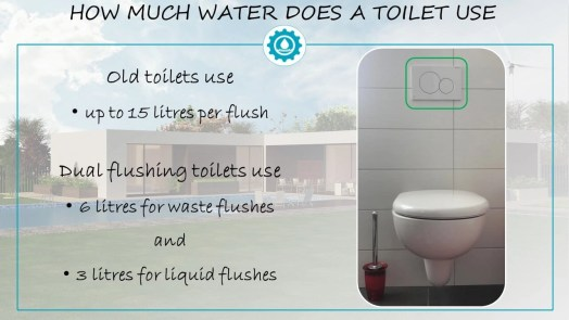 Dual Flushing Toilet water consumption