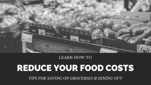 Learn how to save money on food expenses. You can easily reduce grocery and dining out costs wth these tips & tricks.