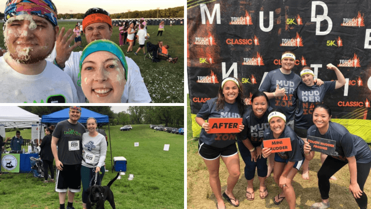 A collage of 5K races.