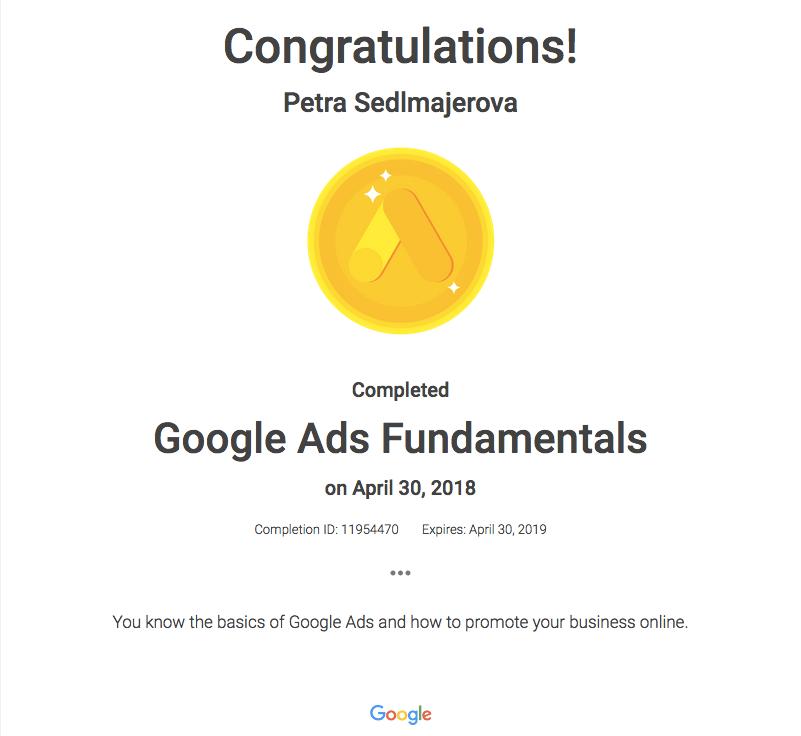 Google Ads Certificate