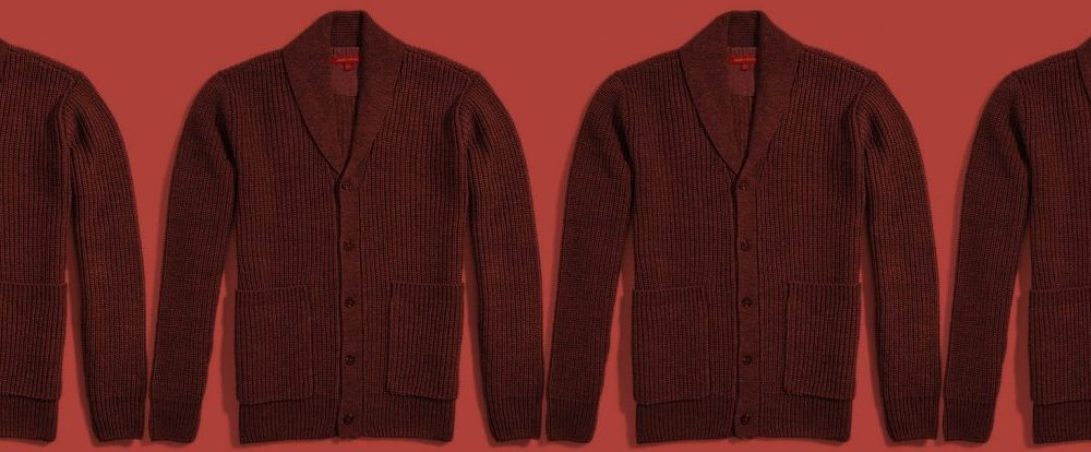 five ways to wear one: the shawl collar cardigan