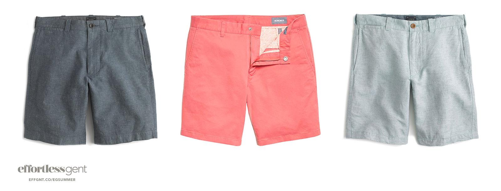 shorts - summer clothes for men - effortless gent