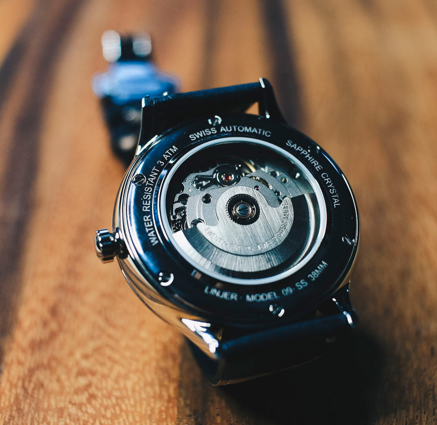 linjer automatic watch back movement - 5 Things Every Guy Needs to Know About Watches