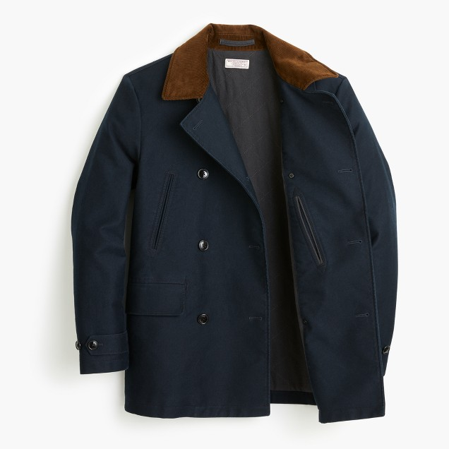 J.Crew Cotton Dock Peacoat in Indigo
