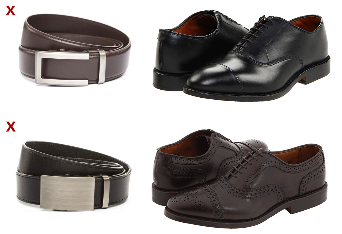 how to match your belt and shoes a definitive visual
