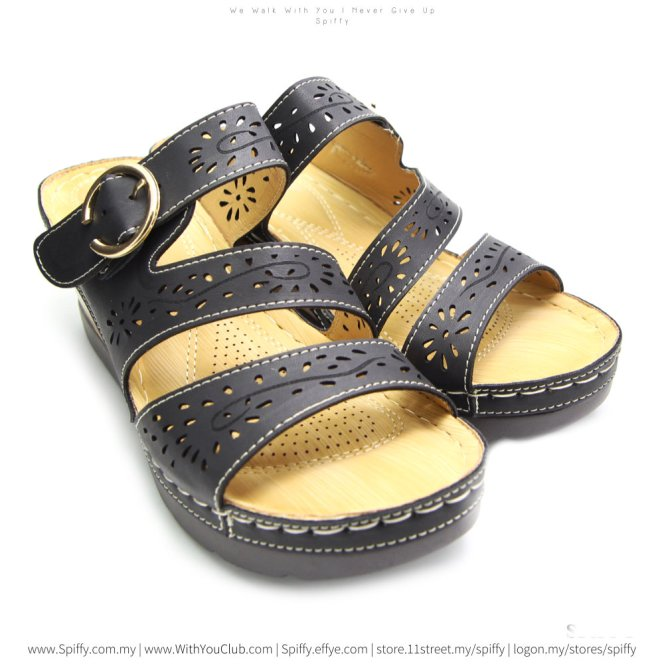 fashion-modern-malaysia-kuala-lumpur-shoes-sandals-%e5%87%89%e9%9e%8b-spiffy-brand-ct3401010-black-colour-shoe-ladies-lady-leather-high-heels-shoes-comfort-wedges-sandal-%e5%a8%83%e5%a8%83%e9%9e%8b
