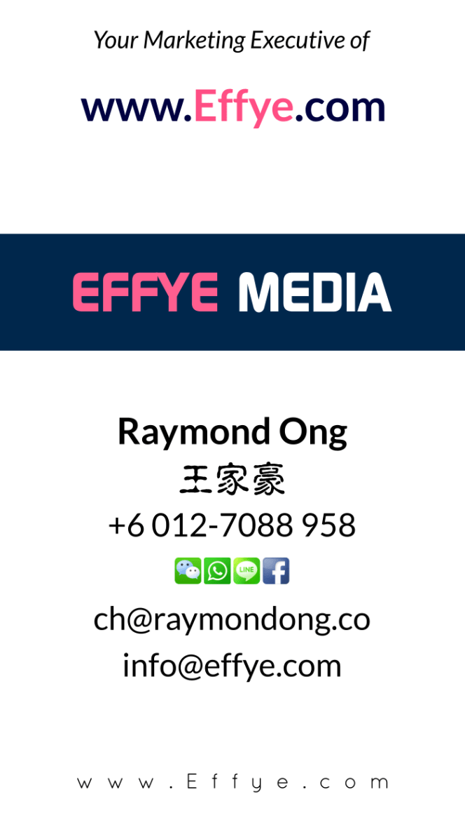 Raymond Ong Effye Media Batu Pahat Website Design Online Media Advertising Web Development Education Webpage Facebook eCommerce Management Products Photo Shooting NC03