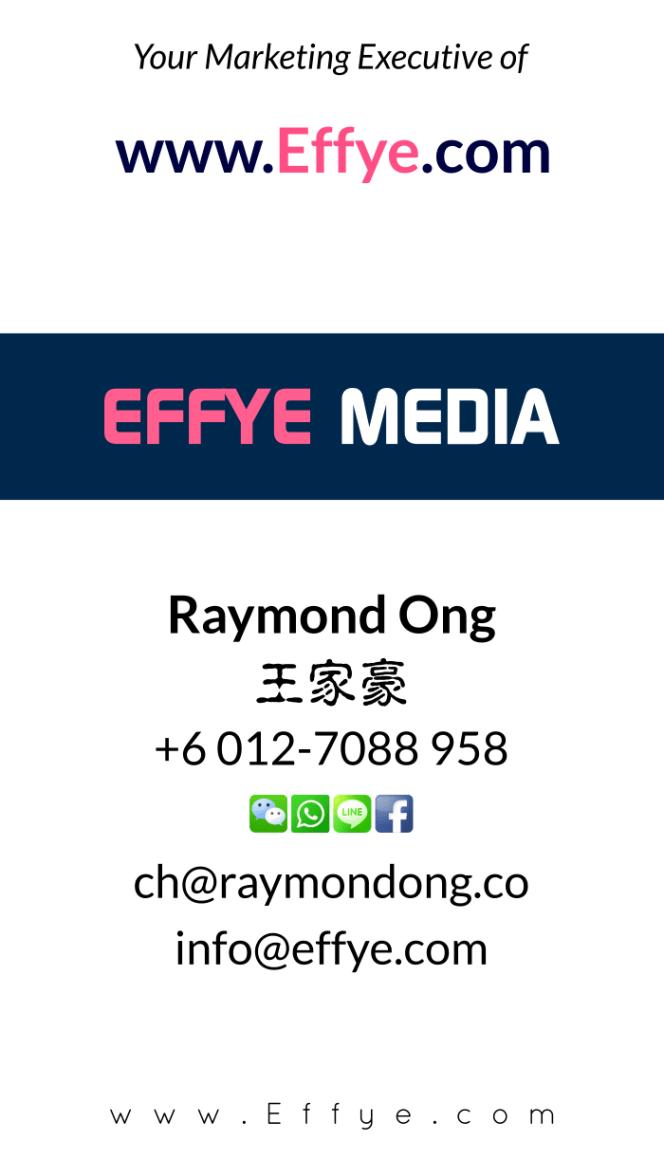 Pulau Pinang Raymond Ong Effye Media Penang Website Design Online Media Advertising Web Development Education Webpage Facebook eCommerce Management Photo Shooting Malaysia NC03