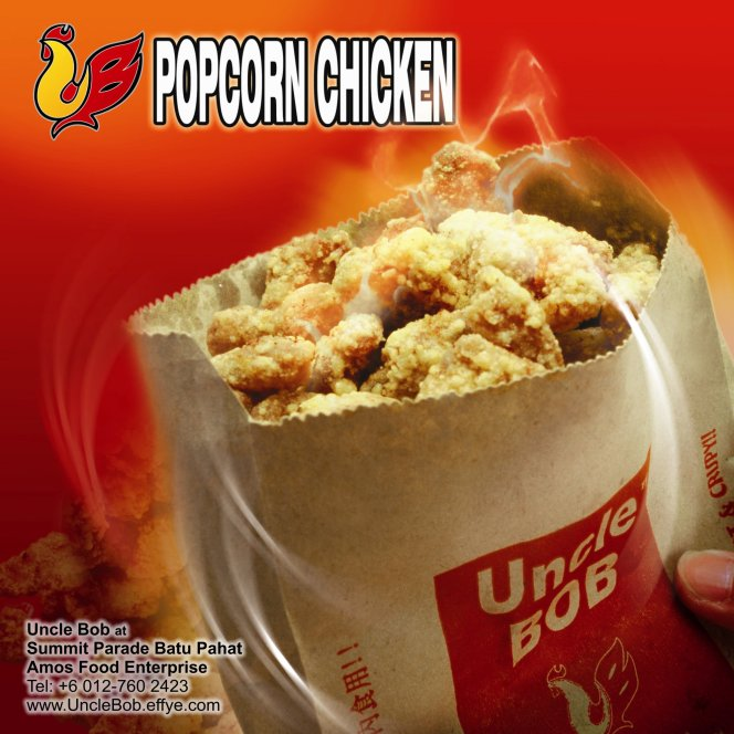 Popcorn Chicken Uncle Bob Fried Chicken Waffle Fast Food Batu Pahat Johor Malaysia Amos Food Enterprise Food and Beverages The Summit Parade Batu Pahat A01