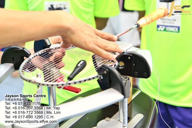 Yonex Protech8 Electric Badminton and tennis Stringing Machines Batu Pahat Jayson Sports Centre Pusat Sukan Batu Pahat 日胜运动用品中心 Batu Pahat Johor Malaysia CA08