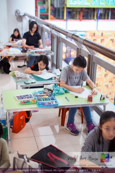 Malaysia Kota Damansara Petaling Jaya Kuala Lumpur Selangor Chinese New Year Charity Coloring Contest World Art House 世界艺术画室 and 1 Utama Shopping JinYeYe Effye Media C056