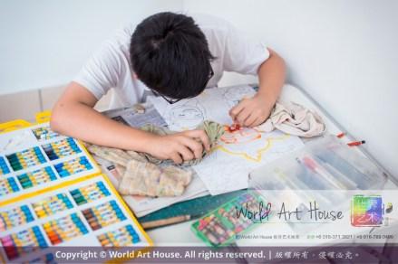 Malaysia Kota Damansara Petaling Jaya Kuala Lumpur Selangor Chinese New Year Charity Coloring Contest World Art House 世界艺术画室 and 1 Utama Shopping JinYeYe Effye Media C078