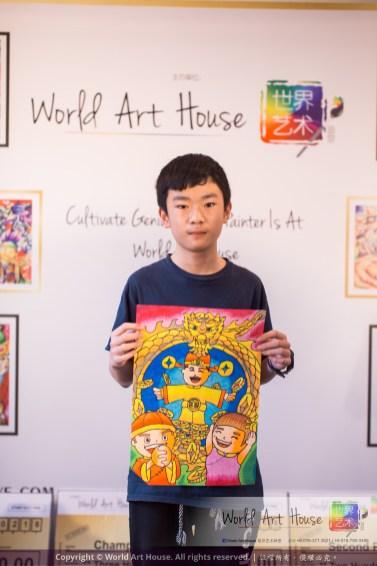Malaysia Kota Damansara Petaling Jaya Kuala Lumpur Selangor Chinese New Year Charity Coloring Contest World Art House 世界艺术画室 and 1 Utama Shopping JinYeYe Effye Media C094