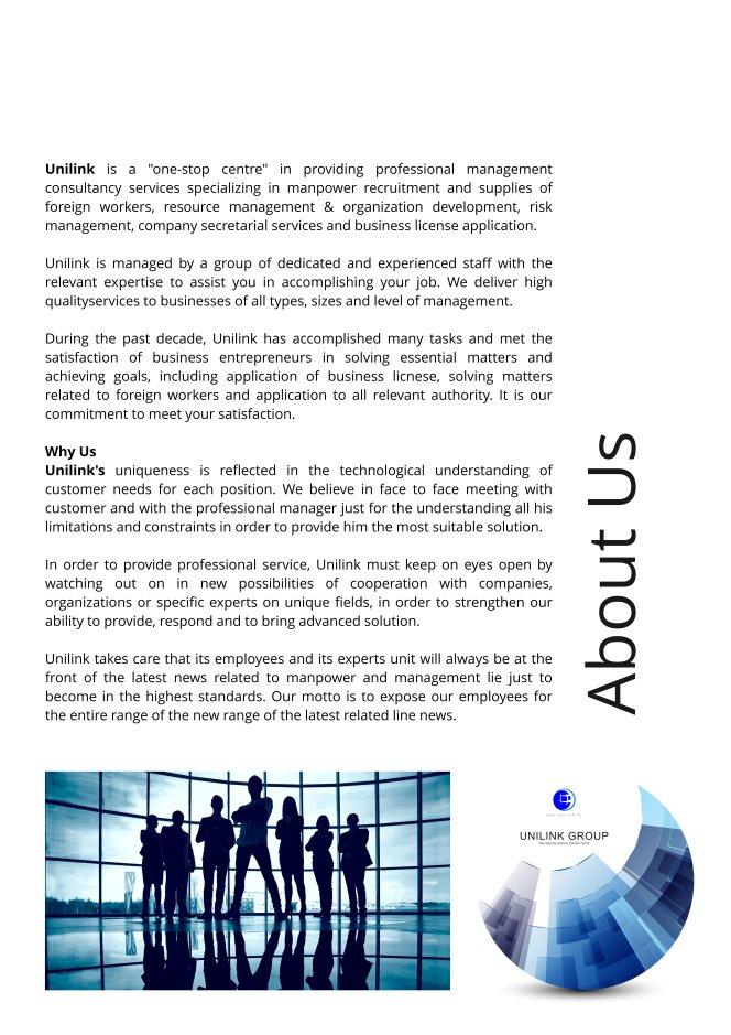 Company Profile of Agensi Pekerjaan Unilink Prospects Sdn Bhd Director Datin Sri Fun See Hoon Datin Sri Ivy Malaysia A05