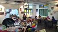 峇株巴辖自助餐龙猫特色中西餐厅 复古式建筑咖啡厅 马来西亚柔佛峇株巴辖地标交通圈小酒馆 公司聚会 Batu Pahat Roudabout Bistro N Cafe PC01-04