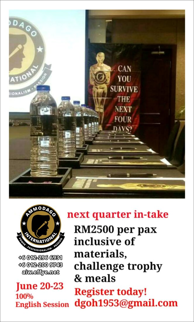 Ammodago International 工作坊 2018 David Goh 发展你成为世界级的演讲者 让你体验你内在的力量 马来西亚 雪兰莪 吉隆坡 培训 训练 课程 2018 EPA01