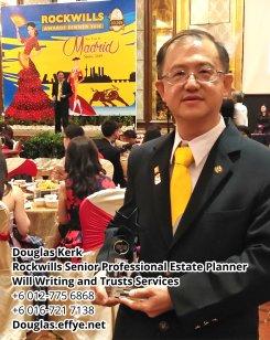 Douglas Kerk Rockwills Senior Professional Estate Planner - Will Writing and Trusts Services Batu Pahat and Kluang Johor Malaysia Property Management PA02-26