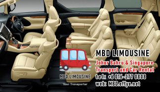 MBD Limousine Johor Bahru Transport and Car Rental Malaysia Transport and Car Rental Singapore Transport and Car Rental Transport between Malaysia and Singapore PA01-07
