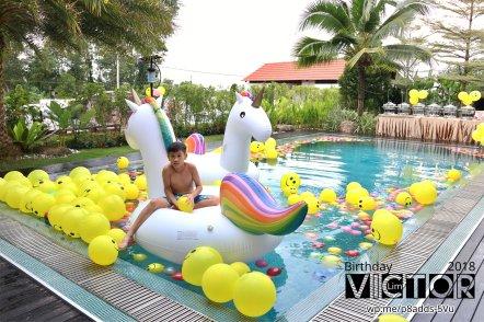 Victor Lim Birthday 2018 in Malaysia Party Buffet Swimming Fun A11