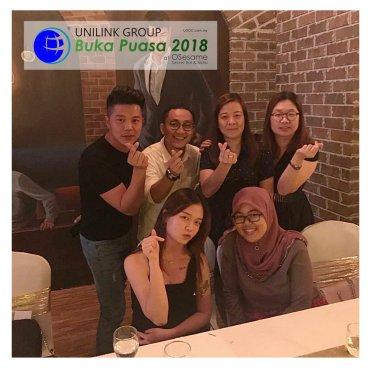 Unilink Group Buka Puasa Dinner 2018 Selamat Hari Raya Aidilfitri from Agensi Pekerjaan Unilink Prospects Sdn Bhd at Osesame Secret Bar and Bistro 44