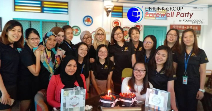 Unilink Group Farewell Party for Ms Rina and Ms JingLing from Agensi Pekerjaan Unilink Prospects Sdn Bhd at Roundabout Bistro and Cafe 00