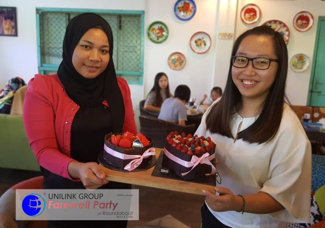 Unilink Group Farewell Party for Ms Rina and Ms JingLing from Agensi Pekerjaan Unilink Prospects Sdn Bhd at Roundabout Bistro and Cafe 01