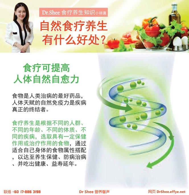 徐悦馨博士 营养这回事 Dr Axellel Shee 营养馨声 你的专属整体营养专家 营养博士 Dr Shee Ph.D 自然食疗养生有什么好处 食疗养生知识小锦囊 A031-02