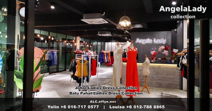 Johor Batu Pahat Ladies Dress Boutique Angela Lady Collection Dinner Dress Evening Gown Maxi Dress Evening Dress Gown Boutique Fashion Lady Apparel Clothes Jeans Skirt Pants Malaysia A00-001