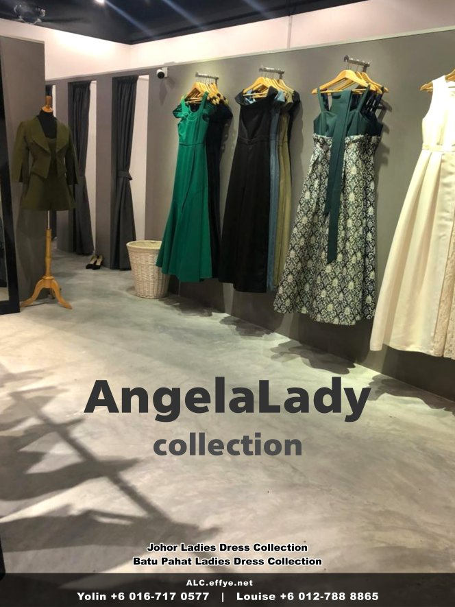 Johor Batu Pahat Ladies Dress Boutique Angela Lady Collection Dinner Dress Evening Gown Maxi Dress Evening Dress Gown Boutique Fashion Lady Apparel Clothes Jeans Skirt Pants Malaysia A01-008