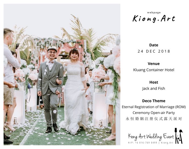 Malaysia Kuala Lumpur Wedding Decoration Kiong Art Wedding Deco Eternal Registration of Marriage Ceremony Open-air Party of Jack and Fish ROM at Kluang Container Hotel A14-A00-07